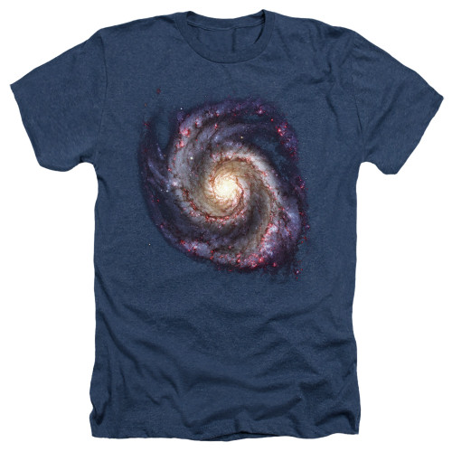 Image for Outer Space Heather T-Shirt - Galaxy Navy