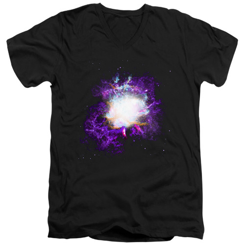 Image for Outer Space V Neck T-Shirt - Nebula