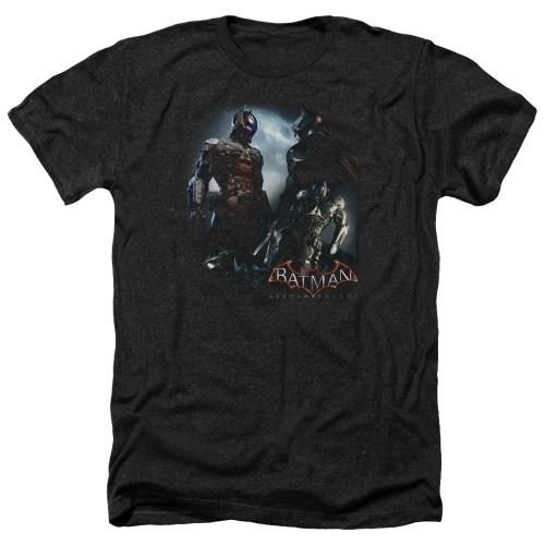 Image for Batman Arkham Knight Heather T-Shirt - Face Off