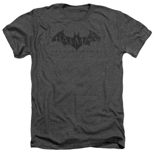 Image for Batman Arkham Origins Heather T-Shirt - Crackle Logo
