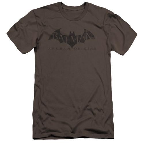 Image for Batman Arkham Origins Premium Canvas Premium Shirt - Crackle Logo