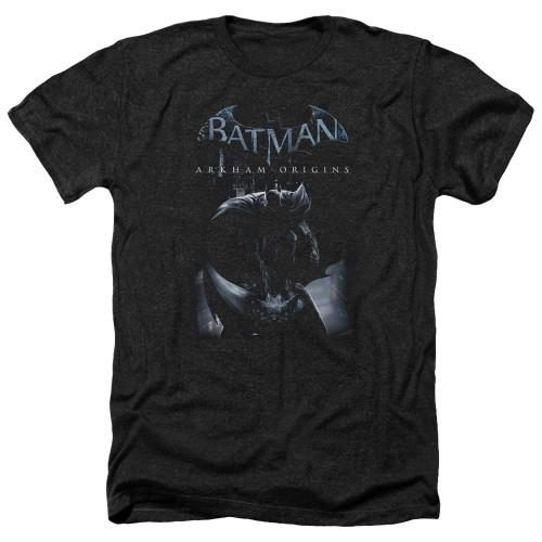 Image for Batman Arkham Origins Heather T-Shirt - Perched Cat