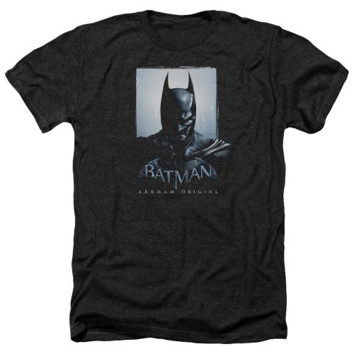 Image for Batman Arkham Origins Heather T-Shirt - Two Sides