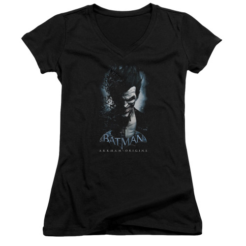 Image for Batman Arkham Origins Girls V Neck T-Shirt - Joker