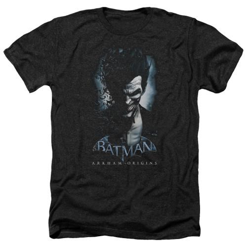 Image for Batman Arkham Origins Heather T-Shirt - Joker