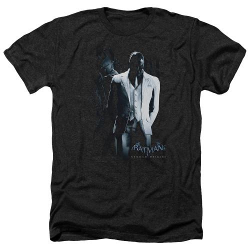 Image for Batman Arkham Origins Heather T-Shirt - Black Mask