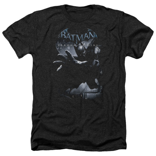 Image for Batman Arkham Origins Heather T-Shirt - Out of the Shadows