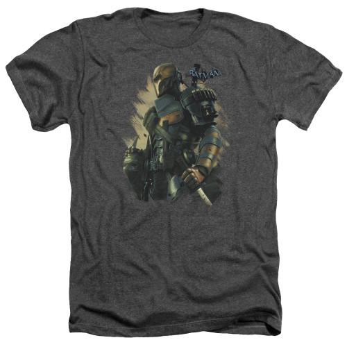 Image for Batman Arkham Origins Heather T-Shirt - Deathstroke