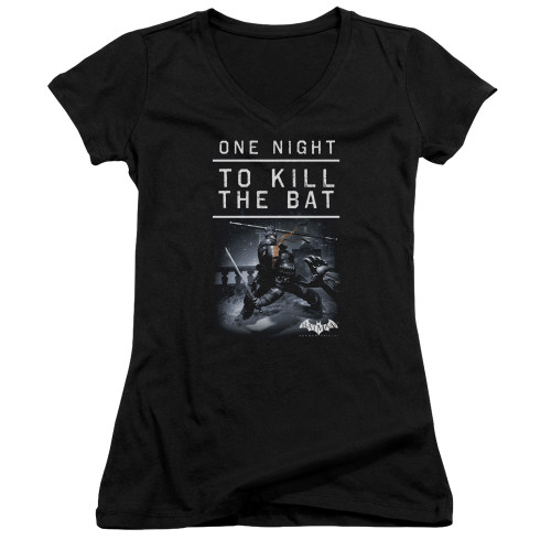 Image for Batman Arkham Origins Girls V Neck T-Shirt - One Night