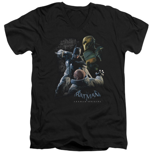 Image for Batman Arkham Origins V-Neck T-Shirt Punch