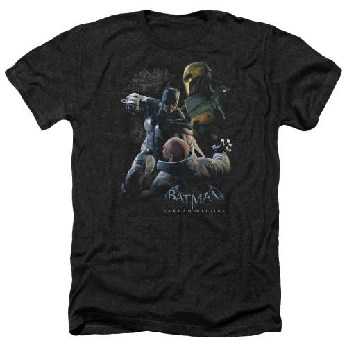 Image for Batman Arkham Origins Heather T-Shirt - Punch