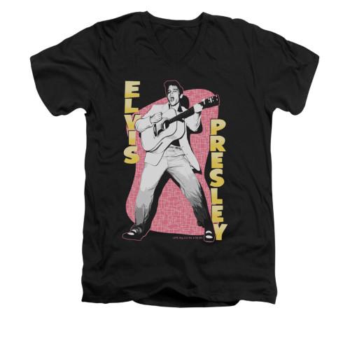 Image for Elvis V-Neck T-Shirt Pink Rock