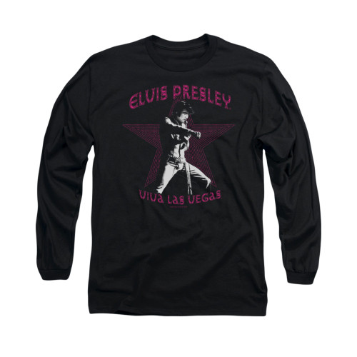 Image for Elvis Long Sleeve T-Shirt - Viva Las Vegas Star