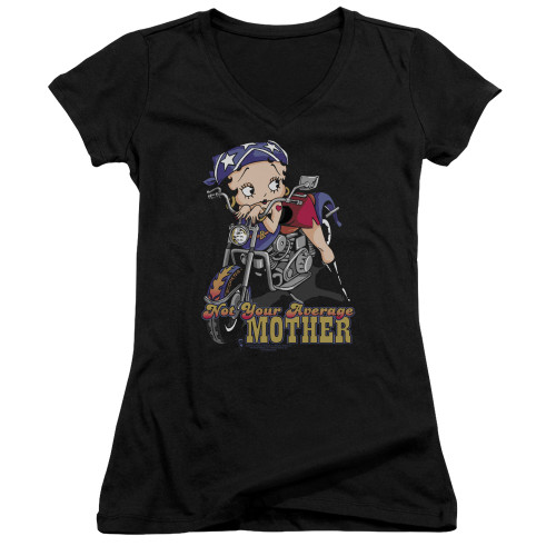 Image for Betty Boop Girls V Neck - Not Your Average Mother