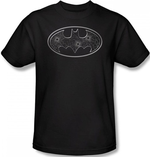 Image for Batman T-Shirt - Glass Hole Logo