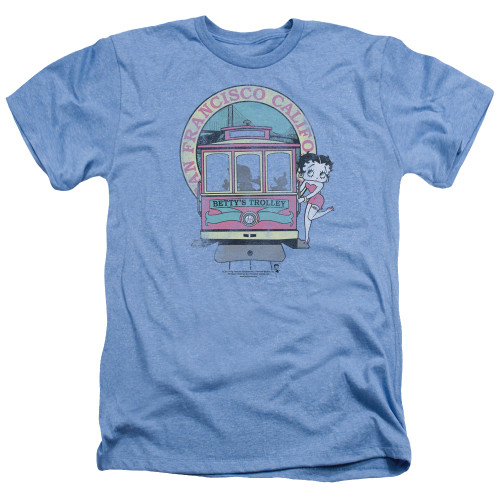Image for Betty Boop Heather T-Shirt - Betty's Trolley