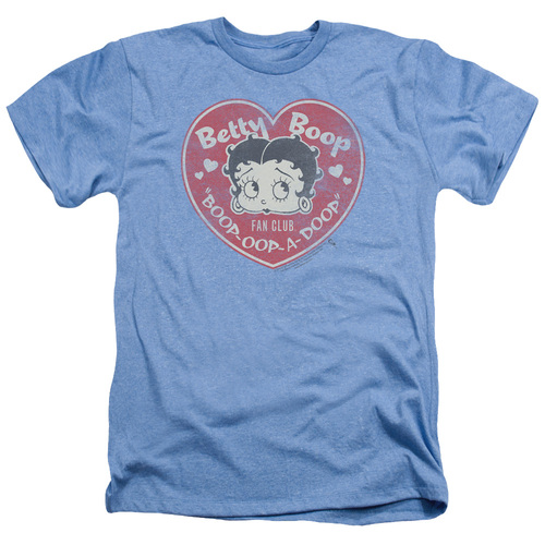 Image for Betty Boop Heather T-Shirt - Fan Club Heart
