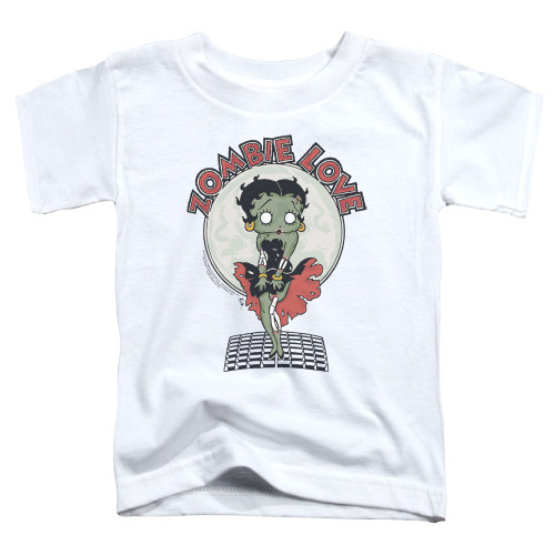 Image for Betty Boop Toddler T-Shirt - Breezy Zombie Love