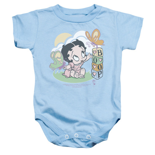 Image for Betty Boop Baby Creeper - Blue Butterflies