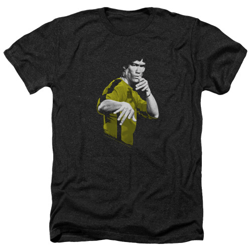 Image for Bruce Lee Heather T-Shirt - Suit of Death