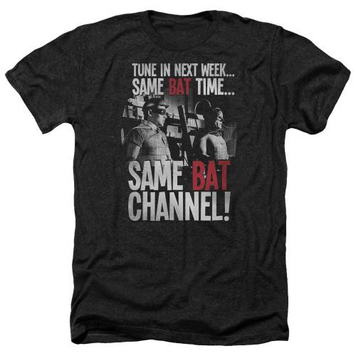 Image for Batman Classic TV Heather T-Shirt - Bat Channel