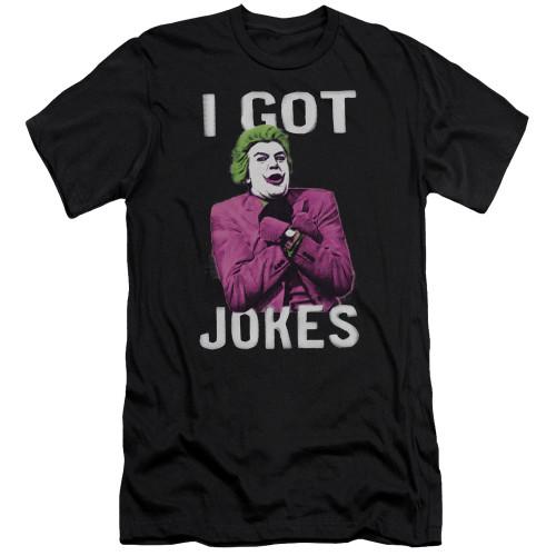 Image for Batman Classic TV Premium Canvas Premium Shirt - Got Jokes?