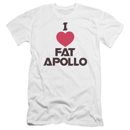 Image for Battlestar Galactica Premium Canvas Premium Shirt - I Heart Fat Apollo