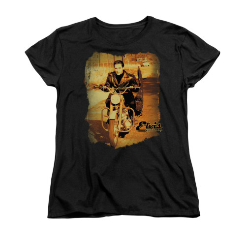 Image for Elvis Woman's T-Shirt - Hit the Road