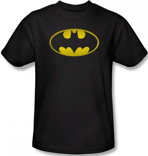 Image Closeup for Batman T-Shirt - Washed Bat Logo