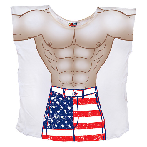 Front image for Stars & Stripes Guy Cover Up T-Shirt