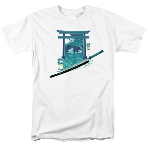 Image for Anime T-Shirt - Nightfall Tori Gate With Sword