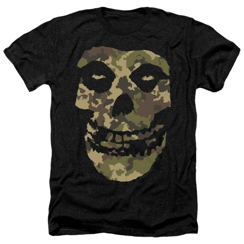 Image for The Misfits Heather T-Shirt - Camo Skull