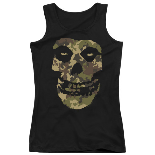 Image for The Misfits Girls Tank Top - Camo Skull