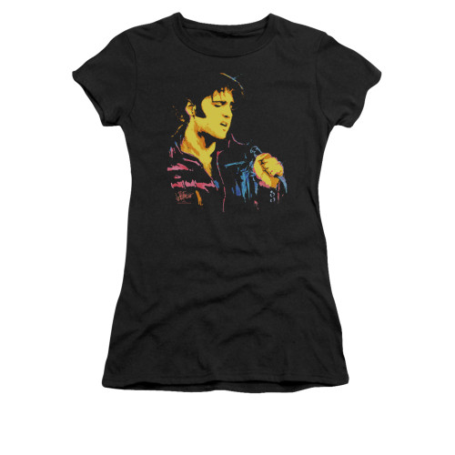 Image for Elvis Girls T-Shirt - Neon Elvis