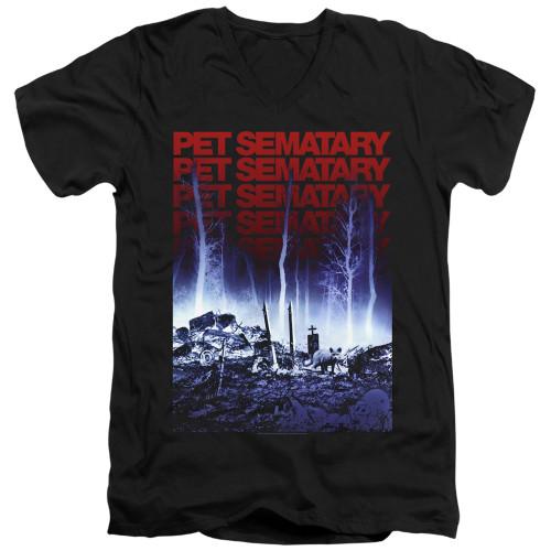 Image for Pet Sematary V Neck T-Shirt - Sematary