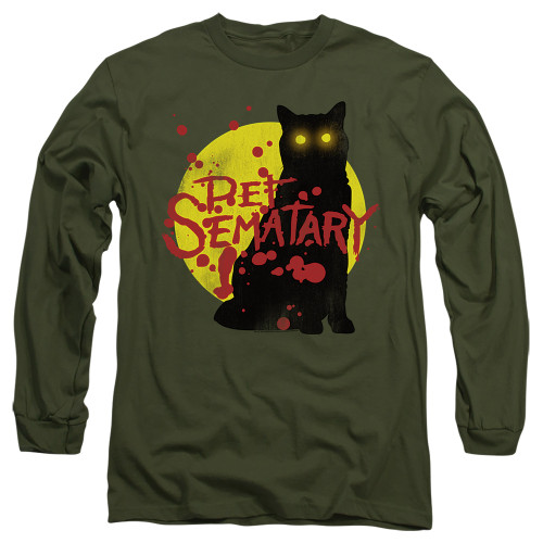 Image for Pet Sematary Long Sleeve Shirt - Graphic Cat