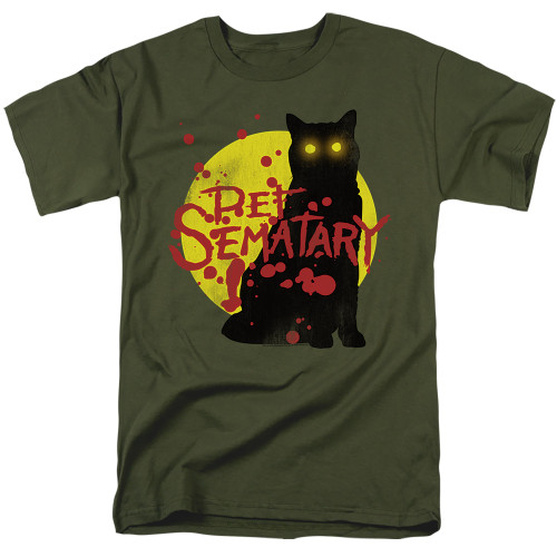 Image for Pet Sematary T-Shirt - Graphic Cat