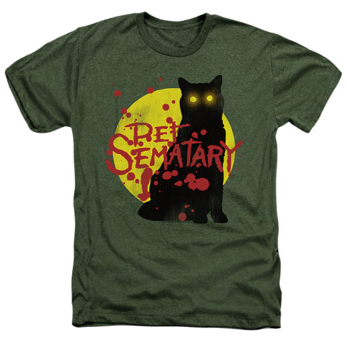 Image for Pet Sematary Heather T-Shirt - Graphic Cat