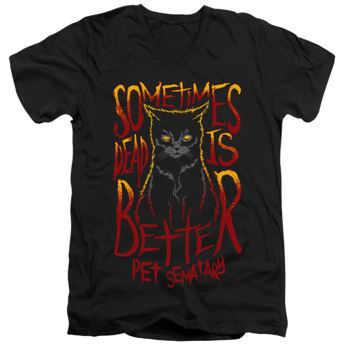 Image for Pet Sematary V Neck T-Shirt - Dead is Better