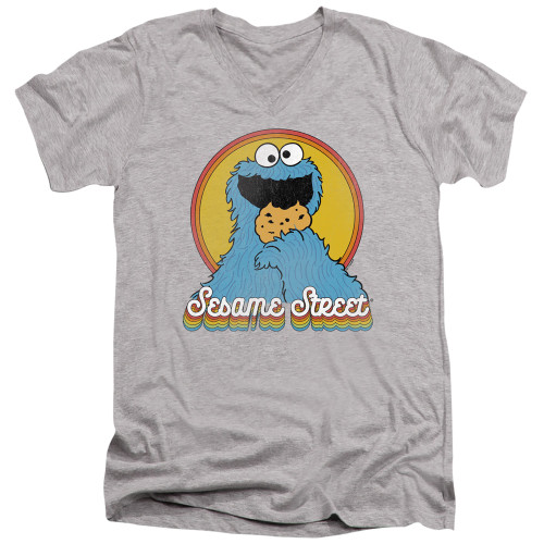 Image for Sesame Street V Neck T-Shirt - Cookie Monster Layers