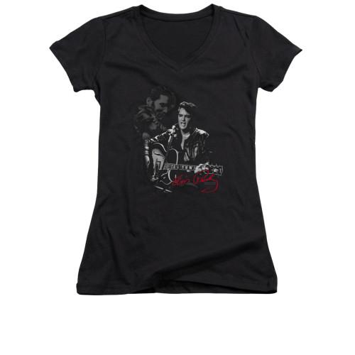 Image for Elvis Girls V Neck T-Shirt - Show Stopper