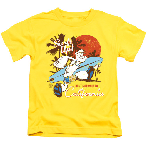 Image for Popeye the Sailor Kids T-Shirt - Surfs Up