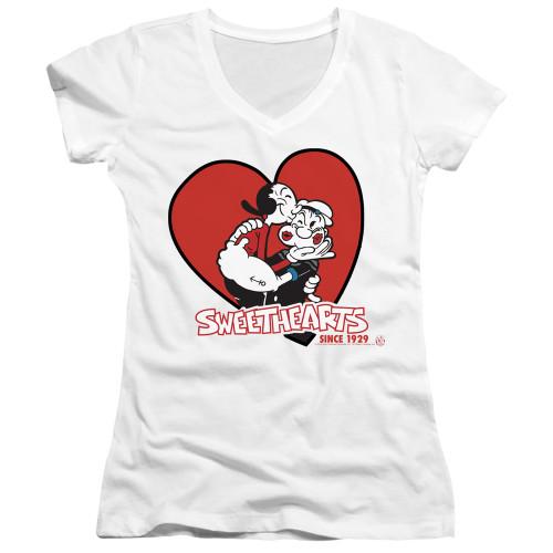 Image for Popeye the Sailor Girls V Neck T-Shirt - Sweethearts