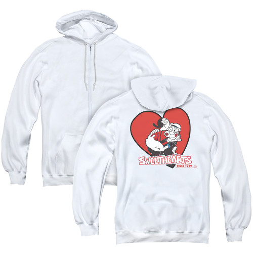 Image for Popeye the Sailor Zip Up Back Print Hoodie - Sweethearts