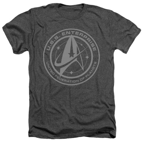 Image for Star Trek Discovery Heather T-Shirt - Enterprise Crest