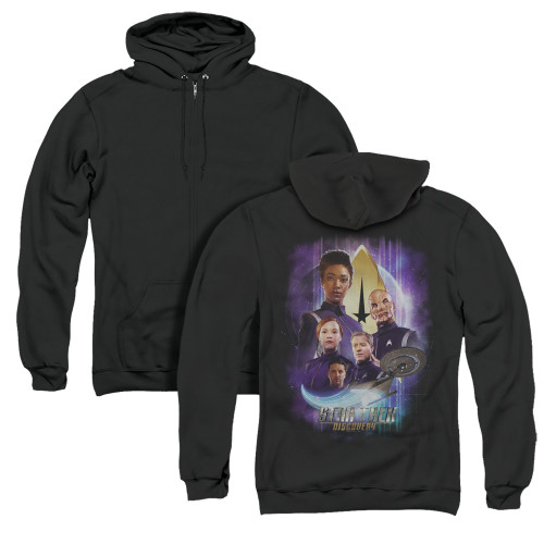 Image for Star Trek Discovery Zip Up Back Print Hoodie - Discovery's Finest