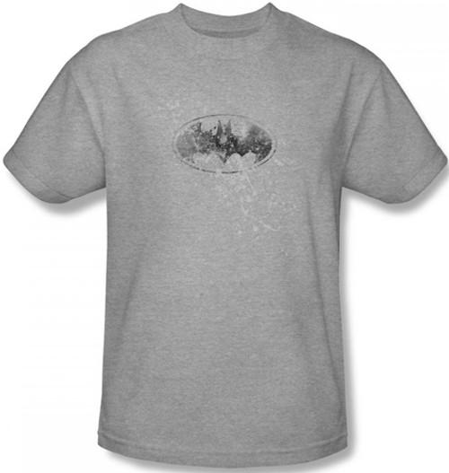 Image for Batman T-Shirt - Burned & Splattered Logo