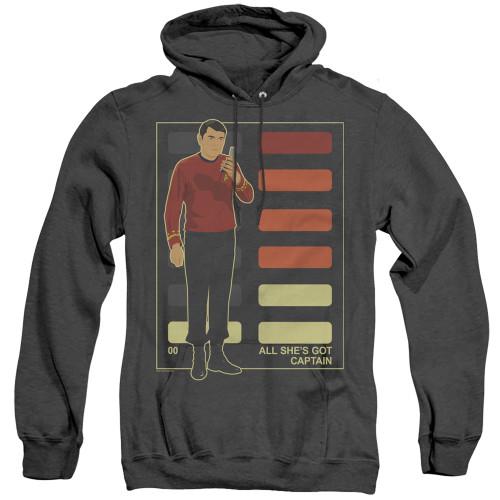 Image for Star Trek Heather Hoodie - All She's Got Captain