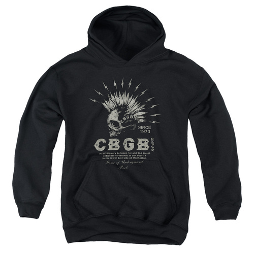 Image for CBGB Youth Hoodie - Electric Skull