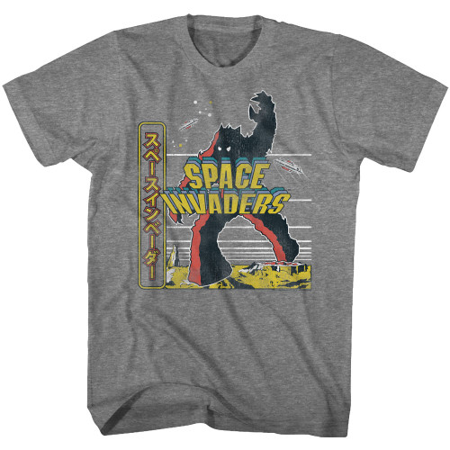 Image for Space Invaders Kanji Invading T-Shirt